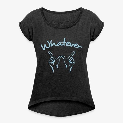 Whatever - T-shirt à manches retroussées Femme
