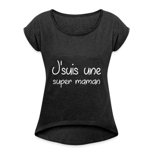 teste - T-shirt à manches retroussées Femme