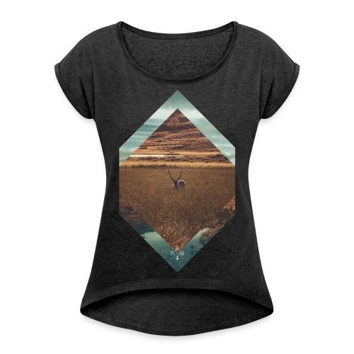 kleinn Kopie png - Frauen T-Shirt mit gerollten Ärmeln