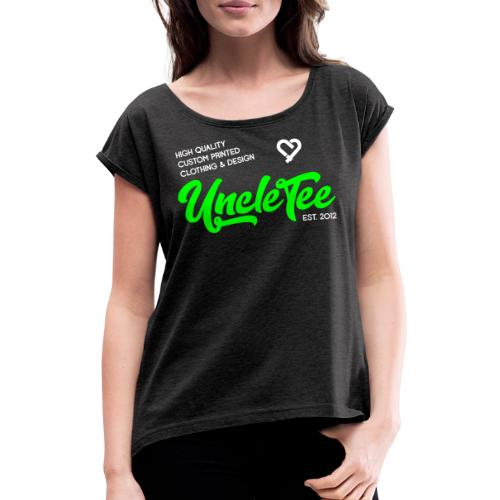 brand hoodie 6 - Vrouwen T-shirt met opgerolde mouwen