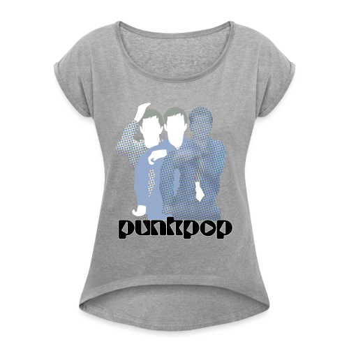 JD Post Punk PunkPop - Maglietta da donna con risvolti