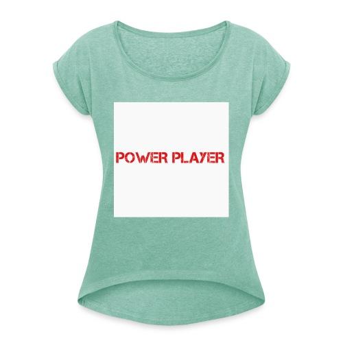 Linea power player - Maglietta da donna con risvolti