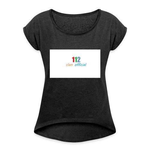 112 oFfIcIaL MERCH - Dame T-shirt med rulleærmer