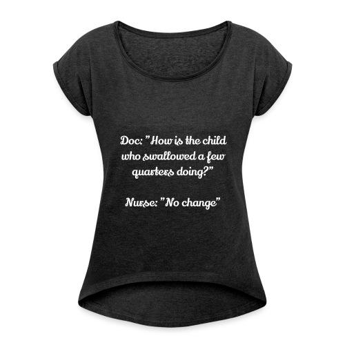 Docteur - T-shirt à manches retroussées Femme