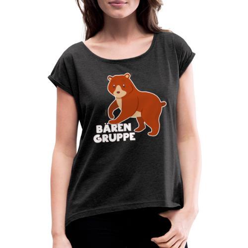 Bären Gruppe Kindergarten - Frauen T-Shirt mit gerollten Ärmeln