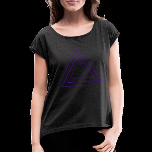Ales00 - Frauen T-Shirt mit gerollten Ärmeln