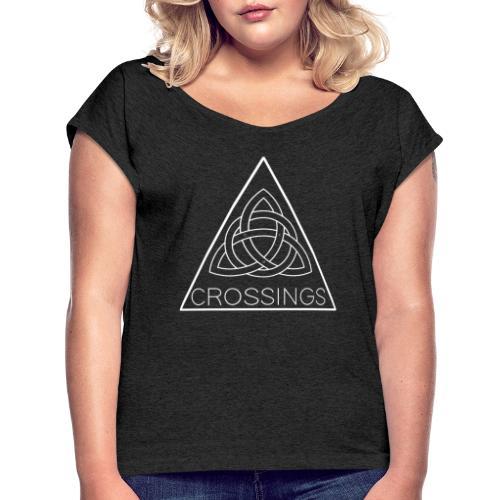 CROSSINGS Album Design - Vrouwen T-shirt met opgerolde mouwen