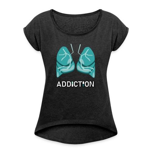 Addiction - Lungs - T-shirt med upprullade ärmar dam
