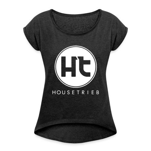 Leicht und Locker - Frauen T-Shirt mit gerollten Ärmeln