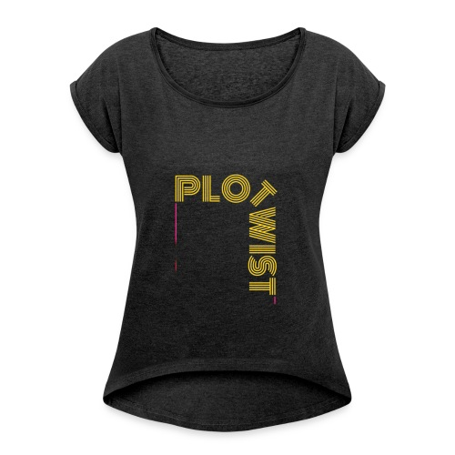 PLOT TWIST T-SHIRT - Camiseta con manga enrollada mujer