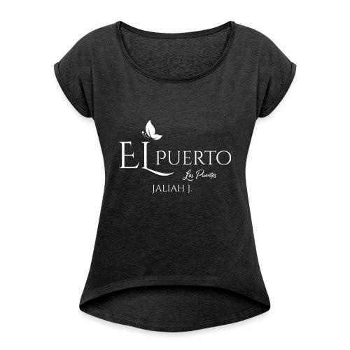 EP Los Puentes White png - Frauen T-Shirt mit gerollten Ärmeln