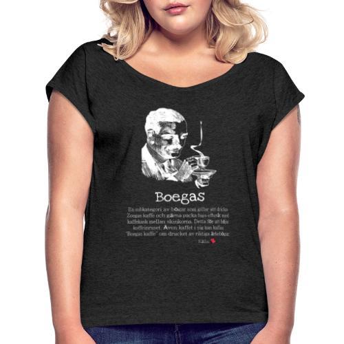 Boegas - T-shirt med upprullade ärmar dam