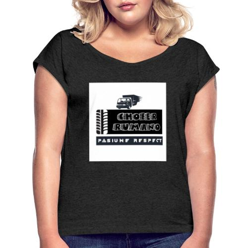 Chofer Rumano - Camiseta con manga enrollada mujer