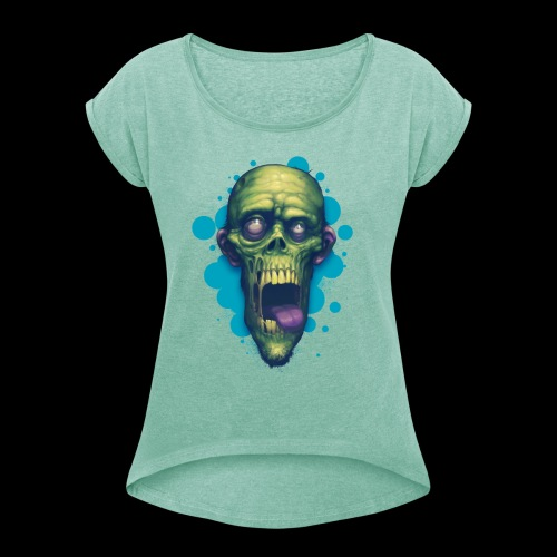BRAAIIIINNNS - Women's T-Shirt with rolled up sleeves