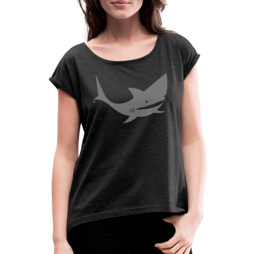 BD Shark - Frauen T-Shirt mit gerollten Ärmeln