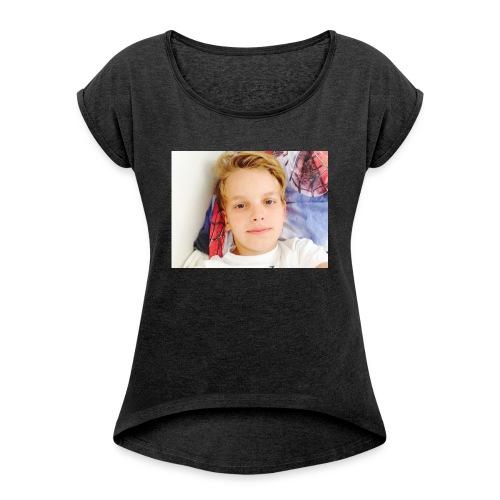 first design - Dame T-shirt med rulleærmer