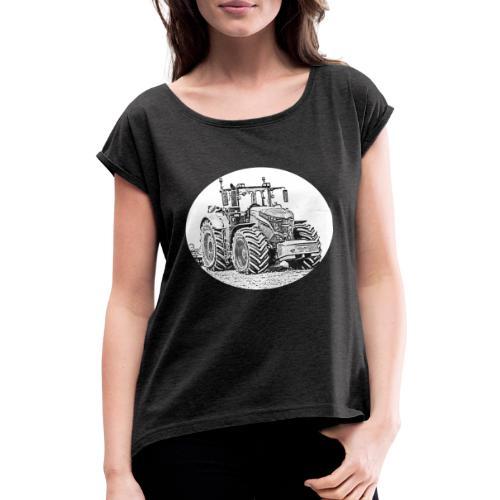 Ackergigant - Frauen T-Shirt mit gerollten Ärmeln