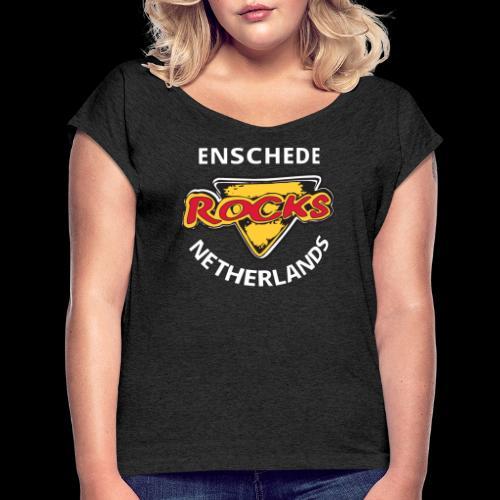 Rocks Crest 4CWL - Vrouwen T-shirt met opgerolde mouwen