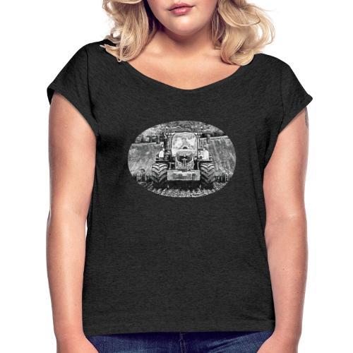 Ackerschlepper - Frauen T-Shirt mit gerollten Ärmeln
