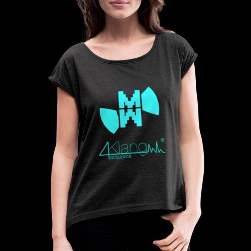 Marcus Winter - vierKlang acoustics - Frauen T-Shirt mit gerollten Ärmeln