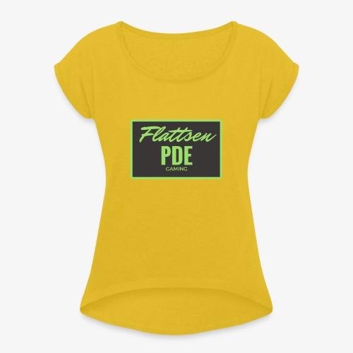 Flattsen - Frauen T-Shirt mit gerollten Ärmeln
