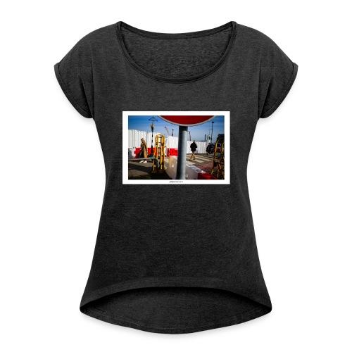 Signals. - Camiseta con manga enrollada mujer