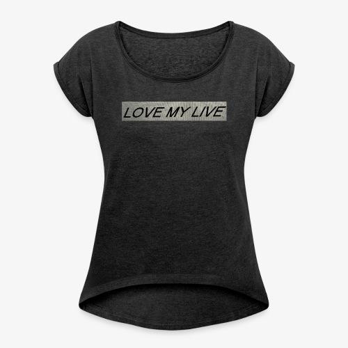 IMG E0701 - Frauen T-Shirt mit gerollten Ärmeln