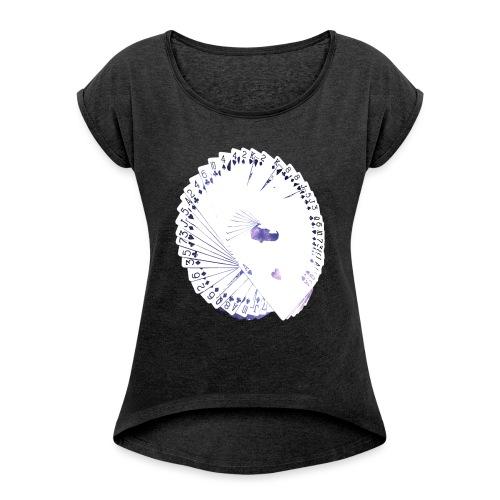 Wearable Cardistry - Universe - T-shirt à manches retroussées Femme