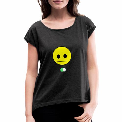 Happy Face is Inside - Camiseta con manga enrollada mujer