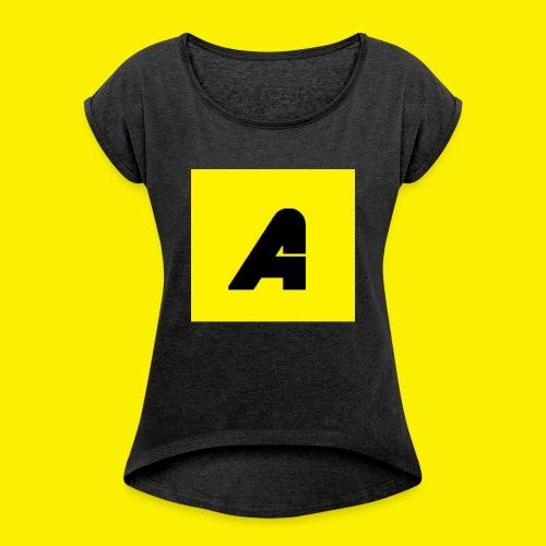 T-shirt Baby - Vrouwen T-shirt met opgerolde mouwen