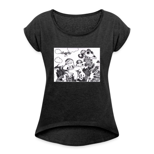mutant mole - T-shirt med upprullade ärmar dam