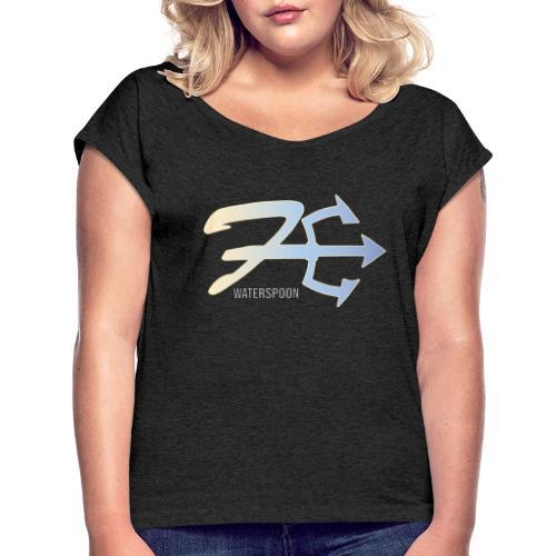 waterspoon - T-shirt à manches retroussées Femme