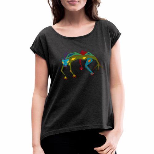 Salmi - Frauen T-Shirt mit gerollten Ärmeln