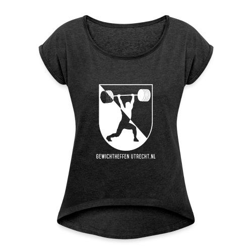 Gewichtheffen Utrecht Logo Trui - Vrouwen T-shirt met opgerolde mouwen