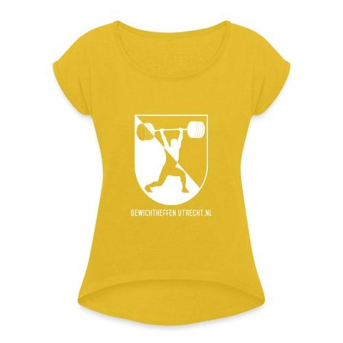 Modern Logo - Vrouwen T-shirt met opgerolde mouwen
