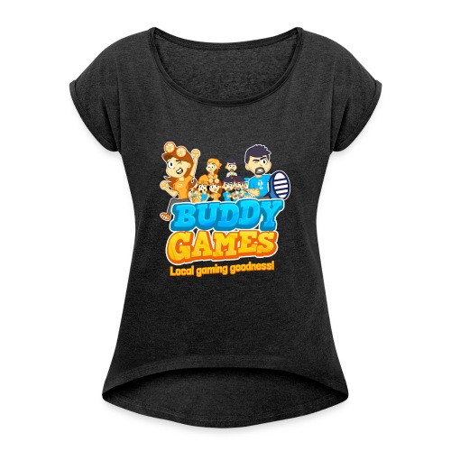 BuddyGames - Women's T-Shirt with rolled up sleeves