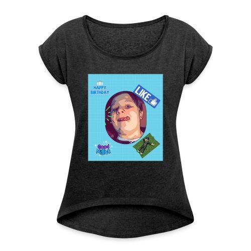 Den Lille bidte - Dame T-shirt med rulleærmer