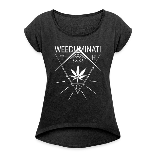 WEEDUMINATI - T-shirt à manches retroussées Femme