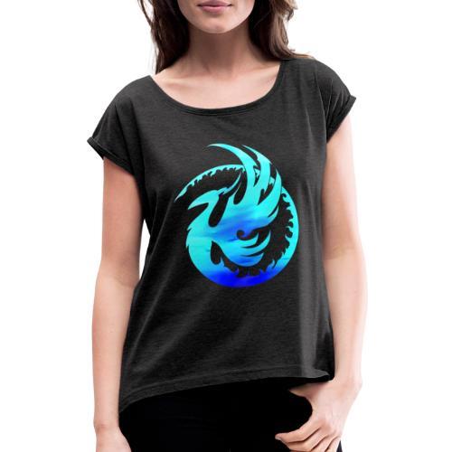 phoenixrund - Frauen T-Shirt mit gerollten Ärmeln