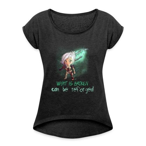 Chibi Riven con scritta DONNA - Maglietta da donna con risvolti