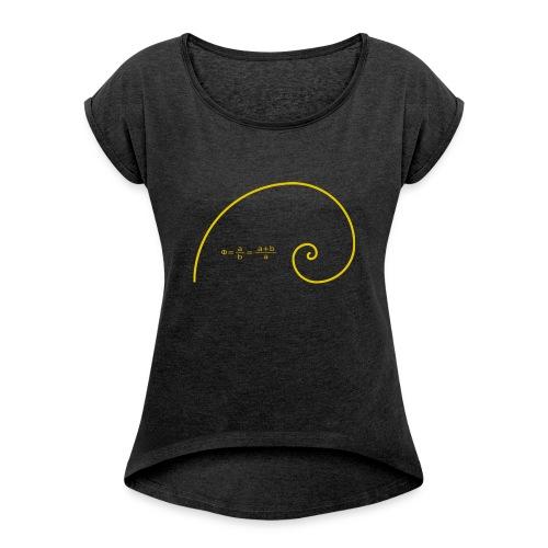 Golden Spiral - Frauen T-Shirt mit gerollten Ärmeln