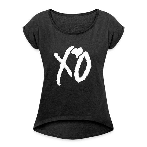 XO - Vrouwen T-shirt met opgerolde mouwen