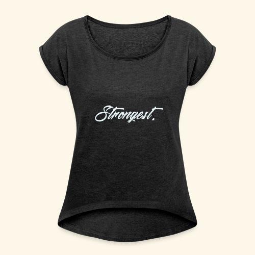 Strongest - T-shirt à manches retroussées Femme