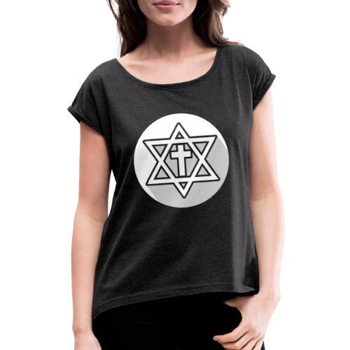 The Cross - Camiseta con manga enrollada mujer