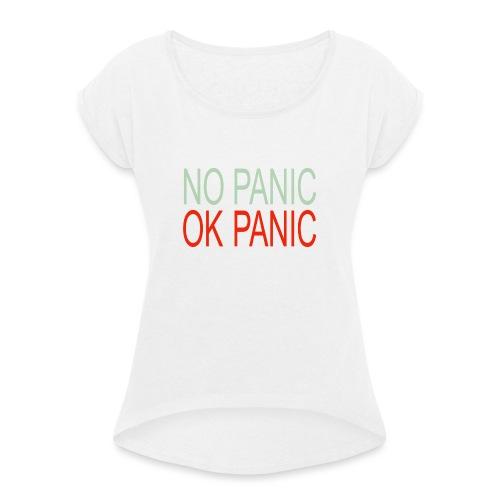 OK Panic - Maglietta da donna con risvolti