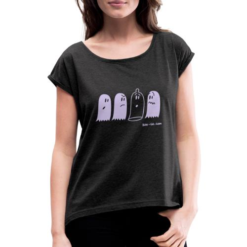 Latex Ghost - Women's T-Shirt with rolled up sleeves