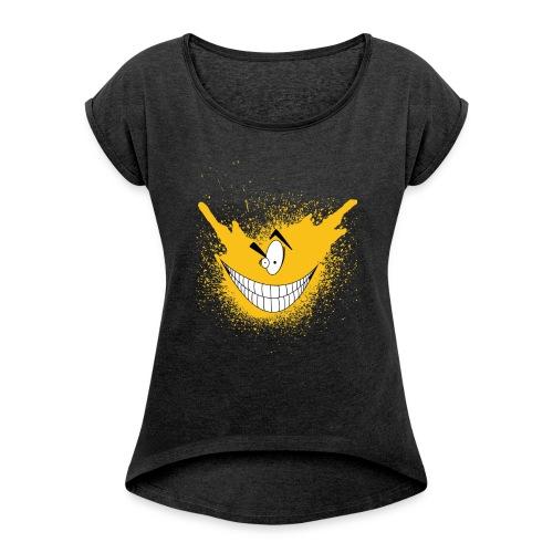 logo6 - T-shirt à manches retroussées Femme