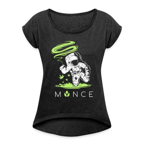 MYNCELUV – Astronaut T-Shirt - Frauen T-Shirt mit gerollten Ärmeln