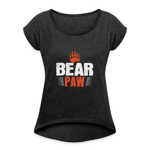 Bear paw - Vrouwen T-shirt met opgerolde mouwen