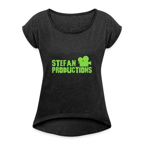 Stefanproductions - Vrouwen T-shirt met opgerolde mouwen